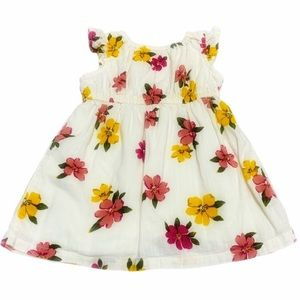 Old Navy Baby Girl Floral Ivory Dress